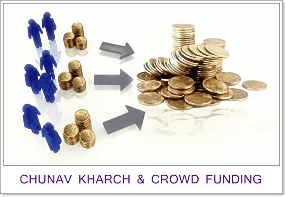 Bharat mai chunav kharch ke liye crowdfunding