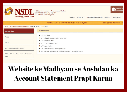 Website ke Madhyam se Anshdan ka Account Statement Prapt Karna