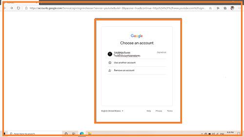 Youtube Automatic आपके Gmail ID को Accept कर लेगा