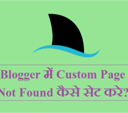 Custom Page Not Found Blogger Code