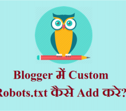 Blogger Main Custom Robots.TXT Kaise Add Kare