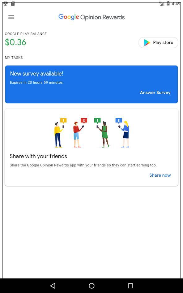 Google Opinion Rewards App में Account कैसे बनाएं