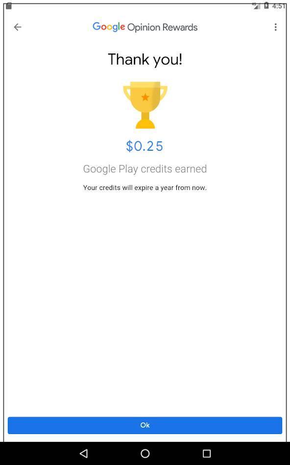 Google Opinion Rewards Income
